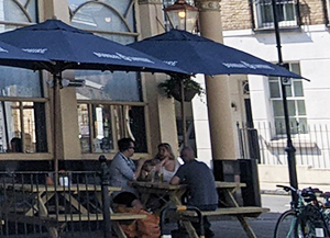 Outside seating at the The Angelic Sunday Roast